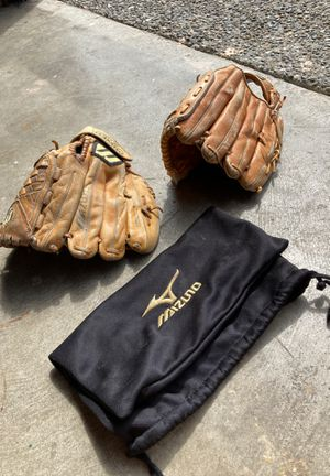 Mizuno and Wilson Leather Baseball Gloves for Sale in Everett, WA