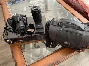 Nikon d3500 with two lenses & Nikon Bag & Usb for Sale in Anaheim, CA