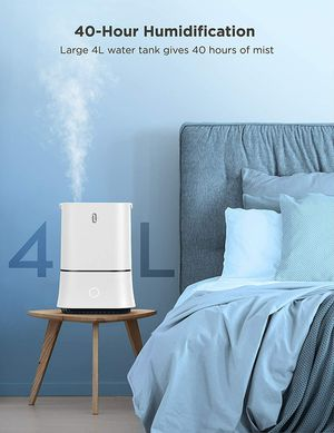 Cool Mist Humidifier, Quiet,Sleep Mode Waterless Auto Shut-Off 4L,Lasts Up to 50 Hr for Sale in Waukee, IA