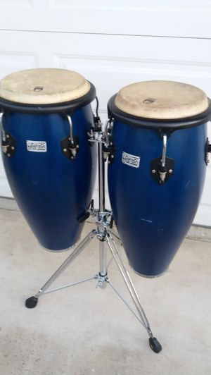 set of Toca Conga drums with stand , excellent condition they sound great! for Sale in Upland, CA