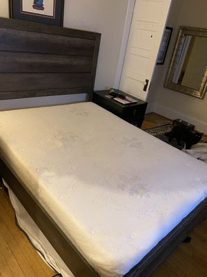 Queen mattress and bed frame ***see description** for Sale in Greensboro, NC