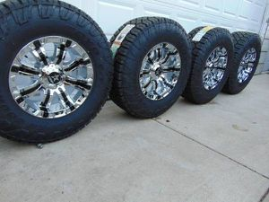 35 12.50 18 Toyo C/T Tires & 18X10 RBP Rims Chrome with Black Inserts for Sale in Aurora, CO