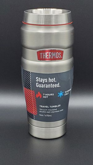 New 16oz Thermos Vacuum Insulated Double Wall Travel Tumbler for Sale in Virginia Beach, VA