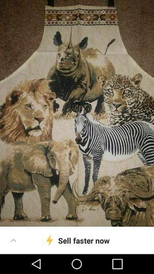 Brand new aprons with African wildlife for Sale in Lake Park, NC