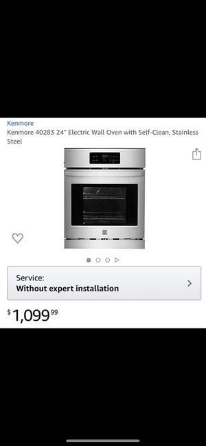 Kenmore electric wall oven for Sale in Alexandria, VA