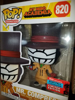 Funko pop mr compress my hero academia nycc mha for Sale in Ontario, CA
