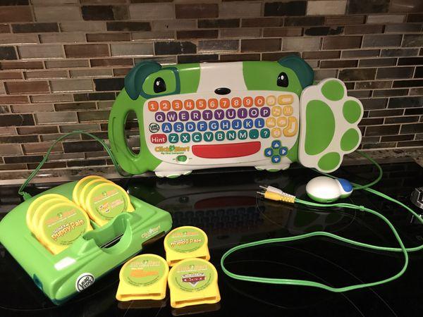 Leap Frog ClickStart My first Computer keyboard mouse 9 games ( p/u tarmarac)