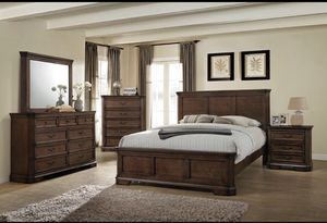 NEW SHERRY KING BEDROOM SET INCLUDES BED DRESSER MIRROR AND NIGHT STAND ONLY $899. CHEST $199. EXTRA NIGHT STAND $149. NO CREDIT CHECK FINANCING AVAI for Sale in Lakeland, FL