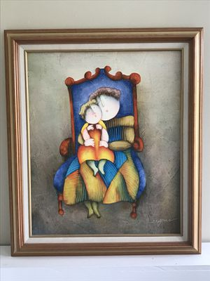 Oil Painting on canvas, Mother and Child for Sale in Alexandria, VA
