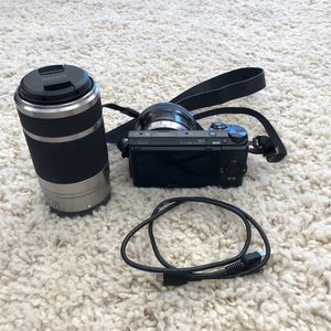 Sony-Nex-5T camera with 16-50mm and 55-210mm retractable lens for Sale in Scottsdale, AZ