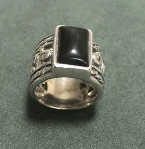 Black Onyx 925 Sterling Stamped Ring & Earrings for Sale in San Diego, CA