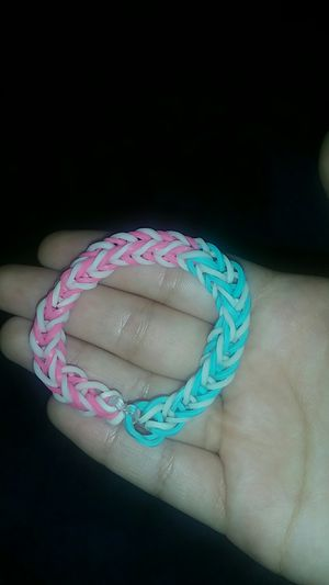 Rainbow Loom Bracelet Blue and Pink for Sale in Fort Lauderdale, FL