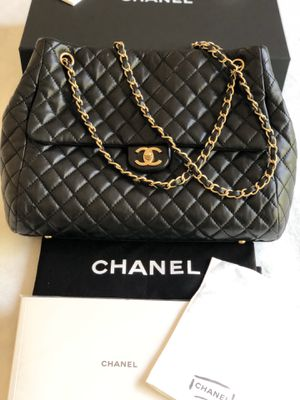 100% Authentic Chanel Large Black Bag with Gold Hardware for Sale in Rockville, MD