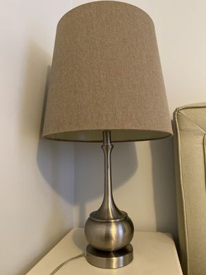 Brushed nickel lamp for Sale in Durham, NC