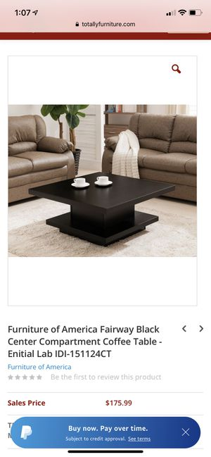 Black coffee table. (Price is negotiable) for Sale in Port Chester, NY