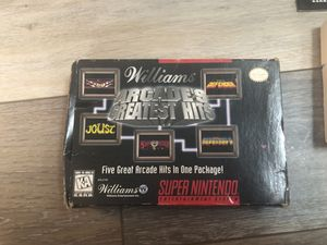Williams Arcades Greatest Hits-Super Nintendo Game for Sale in Rochester, NY