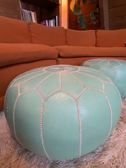 Vintage Moroccan Poufs (set of 2) for Sale in Los Angeles,  CA