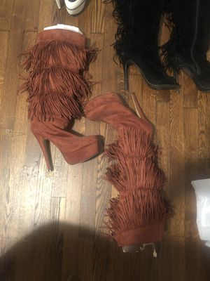 Ladies Tall Fringed Boots for Sale in Valley View, OH