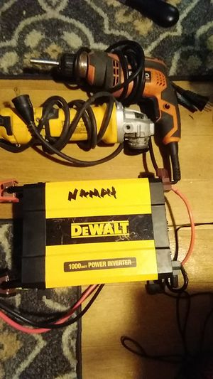 DeWalt corded angle grinder and Ridgid coreded drill both for 60.00 cash and a DeWalt power inverter 1000w 40 cash I'll take 85 for 3 or 40 a piece for Sale in Seattle, WA