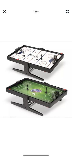 Fun 2 in 1 Compact Magnetic Air Hockey and Soccer Table - Indoor Sports Game for Sale in Los Angeles, CA