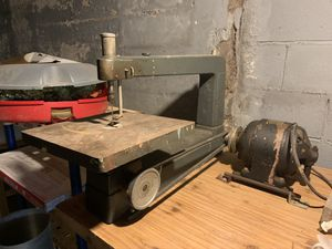 Sears Roebuck scroll saw - model 100.23150 Westinghouse motor for Sale in Whitney Point, NY