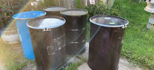 CLEAN 55 gallon barrels burn barrels READ THE AD for Sale in Cleveland, OH