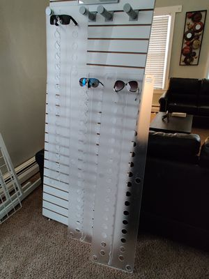 Store fixture slatwall eyewear display and Grid stand for Sale in Trenton, NJ