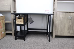 Small Black Office Desk with Basket for Sale in Downey, CA