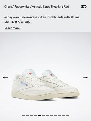 Reebok Club C 85 Model Vintage Shoes White/Blue for Sale in City of Industry, CA