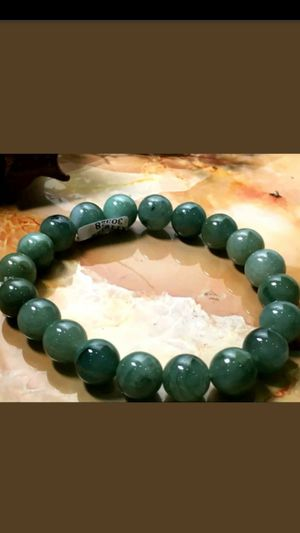 10mmCertified Natural Grade A Jade Oil Blue Jadeite Beads stretchy bracelet for Sale in Richmond, CA