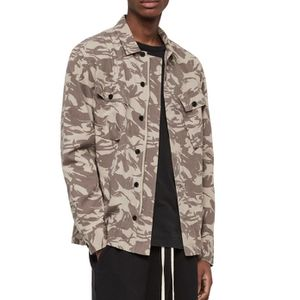 NWT All Saints Slim Fit Shirt Jacket Sand Camo S for Sale in Chicago, IL