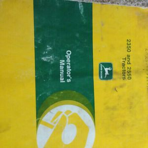 John Deer 2350and2550 Tractor Manual for Sale in Valparaiso, IN
