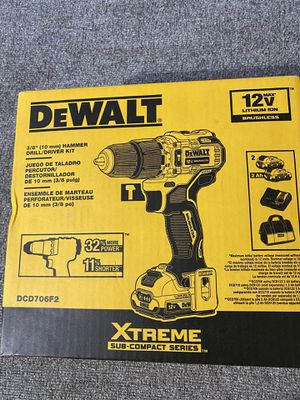 DEWALT XTREME 12V MAX Brushless 3 Hammer drill for Sale in Westminster, CO