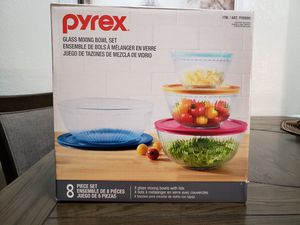 Pyrex 8-piece Glass Sculpted Mixing Bowls for Sale in Gardena, CA