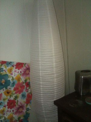 Floor lamp with paper shade for Sale in Lake Wales, FL