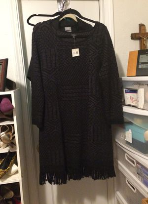 Women's Lucky Brand NWT gorgeous black & charcoal dress. XL. for Sale in Martinez, CA