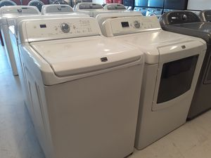 Maytag bravos tap load washer and electric dryer set in good condition with 90 day's warranty for Sale in Mount Rainier, MD