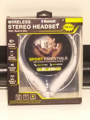 Sport Essentials. Wireless Stereo Headset with Built in Mic. for Sale in San Antonio, TX