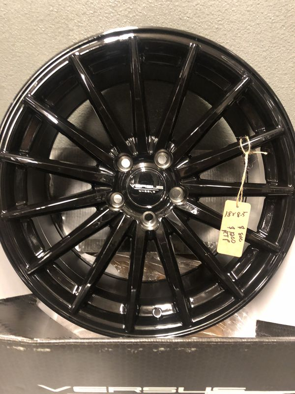 BRAND NEW Set (4) Gloss Black 18 inch rims for only $800!!!