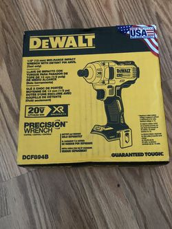 DeWalt 20-Volt MAX XR Cordless Brushless 1/2 in. Mid-Range Impact Wrench with Detent Pin Anvil (Tool-Only) for Sale in Portland,  OR