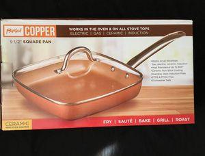 Parini Copper 9 1/2 square pan & lid for Sale in Riverside, CA