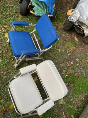 BOAT SEATS FOLDING DECK CHAIRS $$$ for Sale in Trumbull, CT