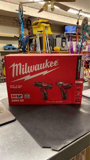 "Milwaukee M12 2-Tool 3/8"" Drill Driver 1/4"" Impact Combo Kit 2492-22 for Sale in Phoenix, AZ"