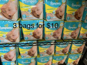 Pampers SIZE 1 diapers new 3 bags for $10 for Sale in South El Monte, CA