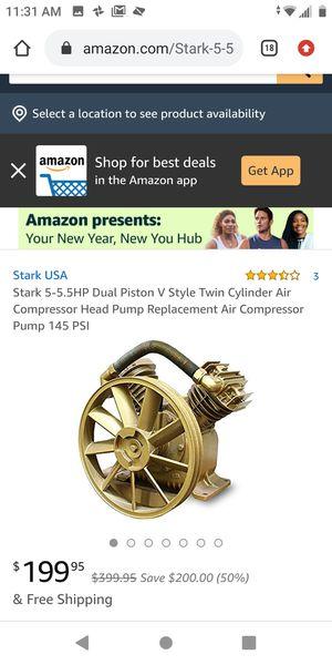 5hp compressor pump for Sale in Ontario, CA