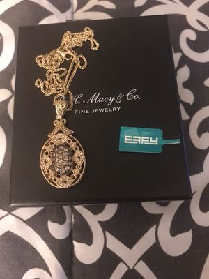 14kt rose gold espresso and white diamond EFFY necklace for Sale in Seattle, WA