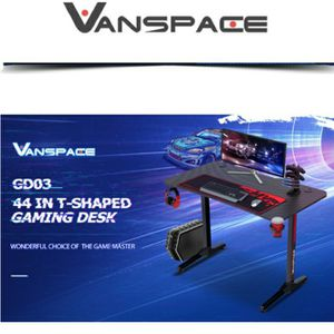 VANSPACE 44 Inch Ergonomic Gaming Desk with Gaming Mouse Pad, T-Shaped Office Desk PC Computer Desk, Gaming Table Gamer Workstation with Gaming Handle for Sale in Henderson, NV