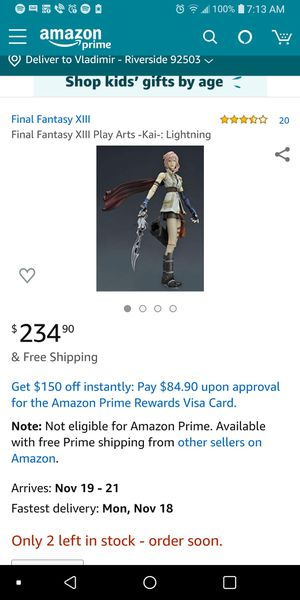 Final Fantasy XIII Collectible Japanese Import Anime Action Figure for Sale in Riverside, CA