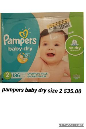 pampers baby dry size 2 for Sale in Los Angeles, CA