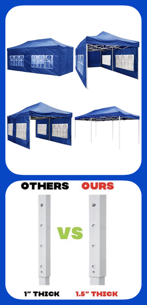 ☀️🌧☀️Four Complete Sidewalls, Blue 10x20 Ft Pop Up Canopy Carpa, Brand New in the Box☀️🌧☀️ for Sale in Pomona, CA